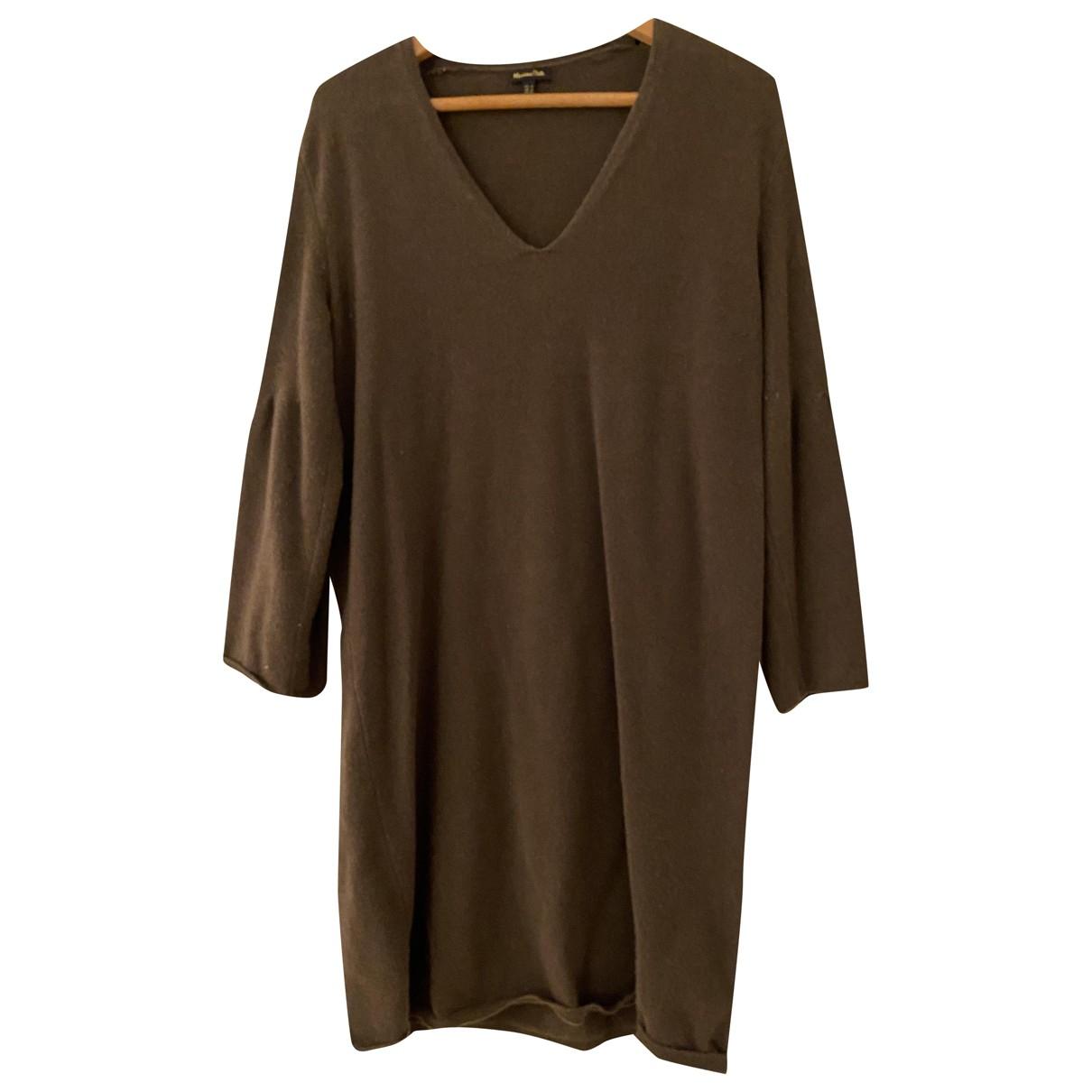 Massimo Dutti - Robe   pour femme en laine - kaki