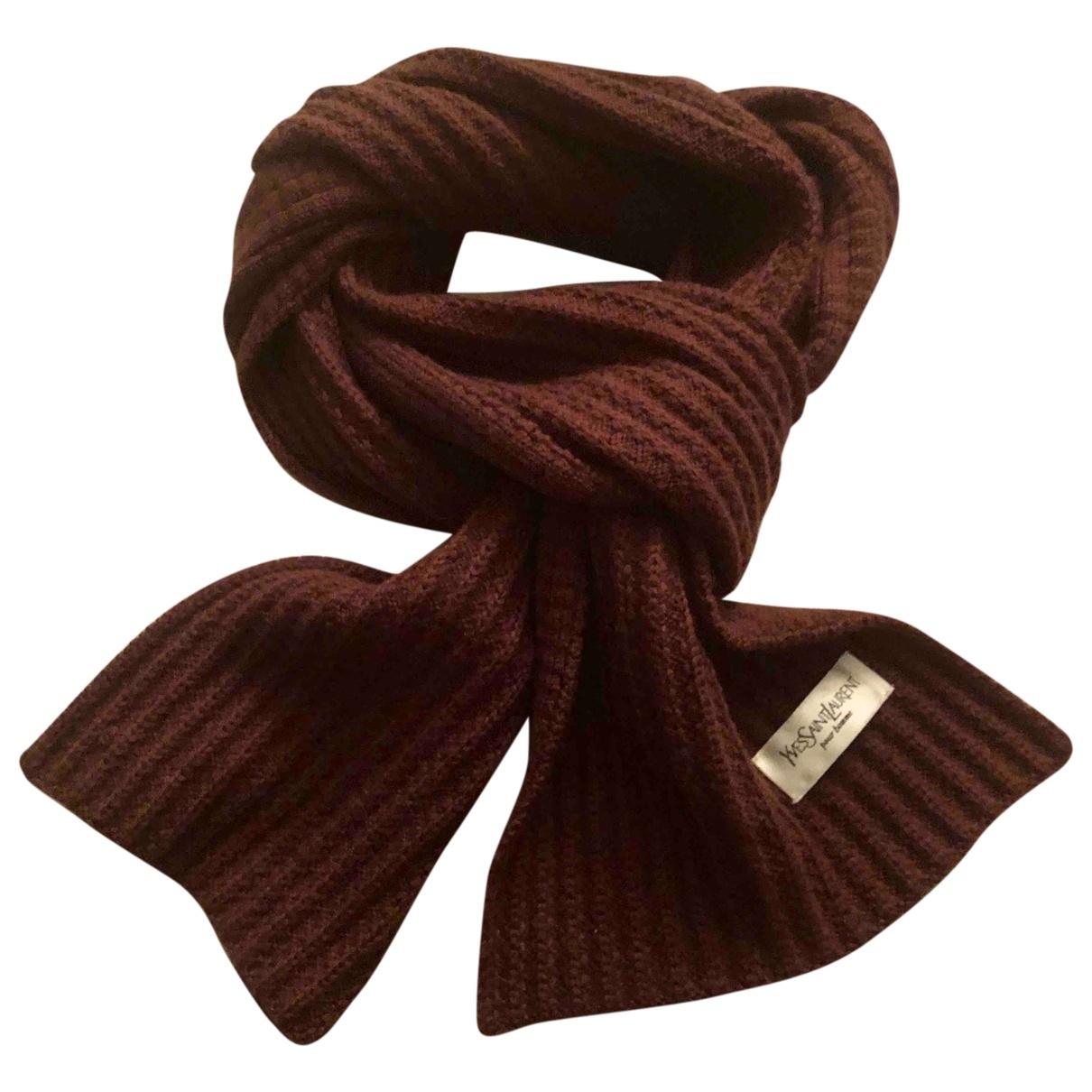 Yves Saint Laurent \N Brown Wool scarf & pocket squares for Men \N