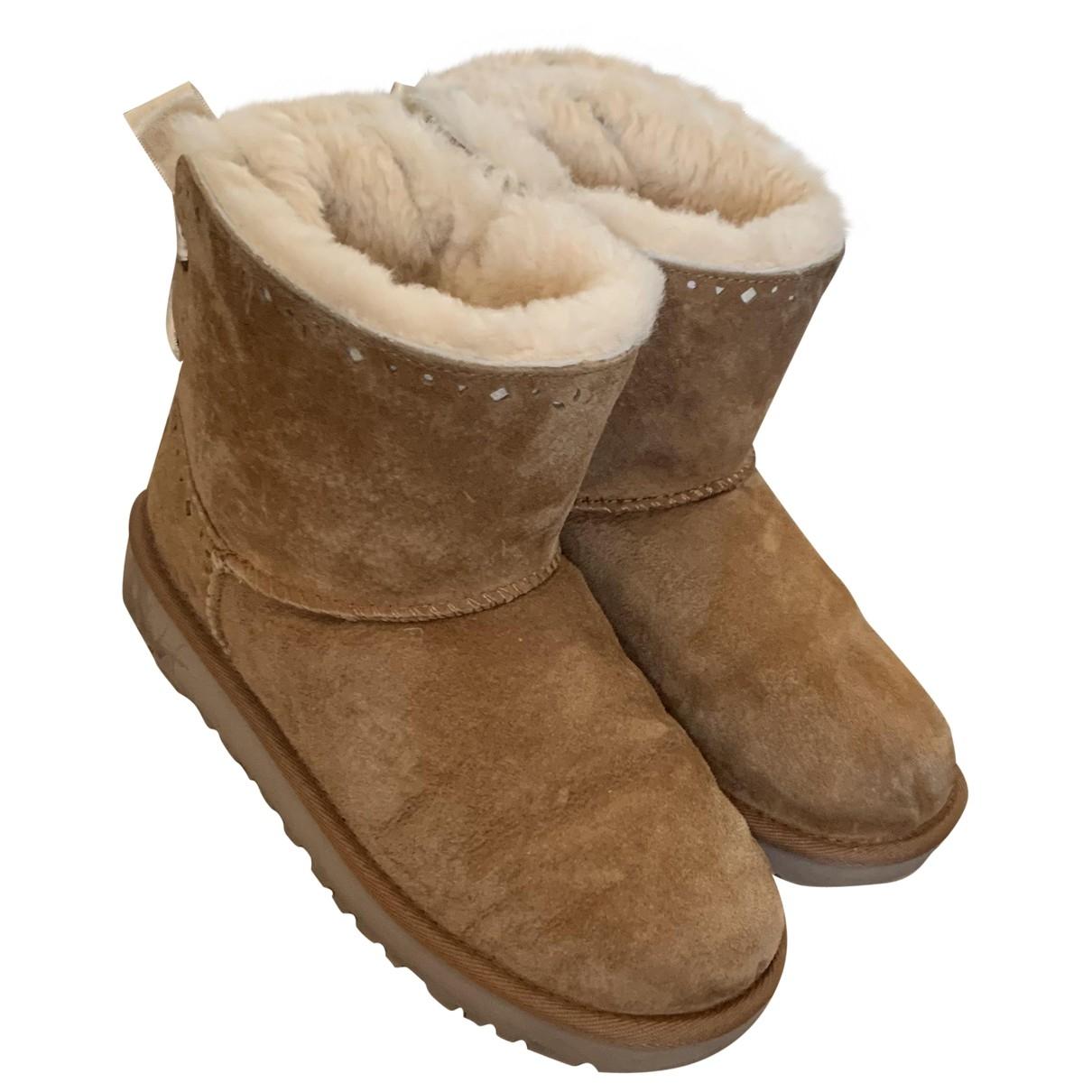 Ugg - Bottes   pour femme en agneau de mongolie - beige