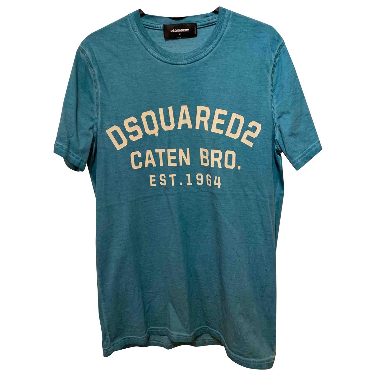 Dsquared2 \N Blue Cotton T-shirts for Men M International