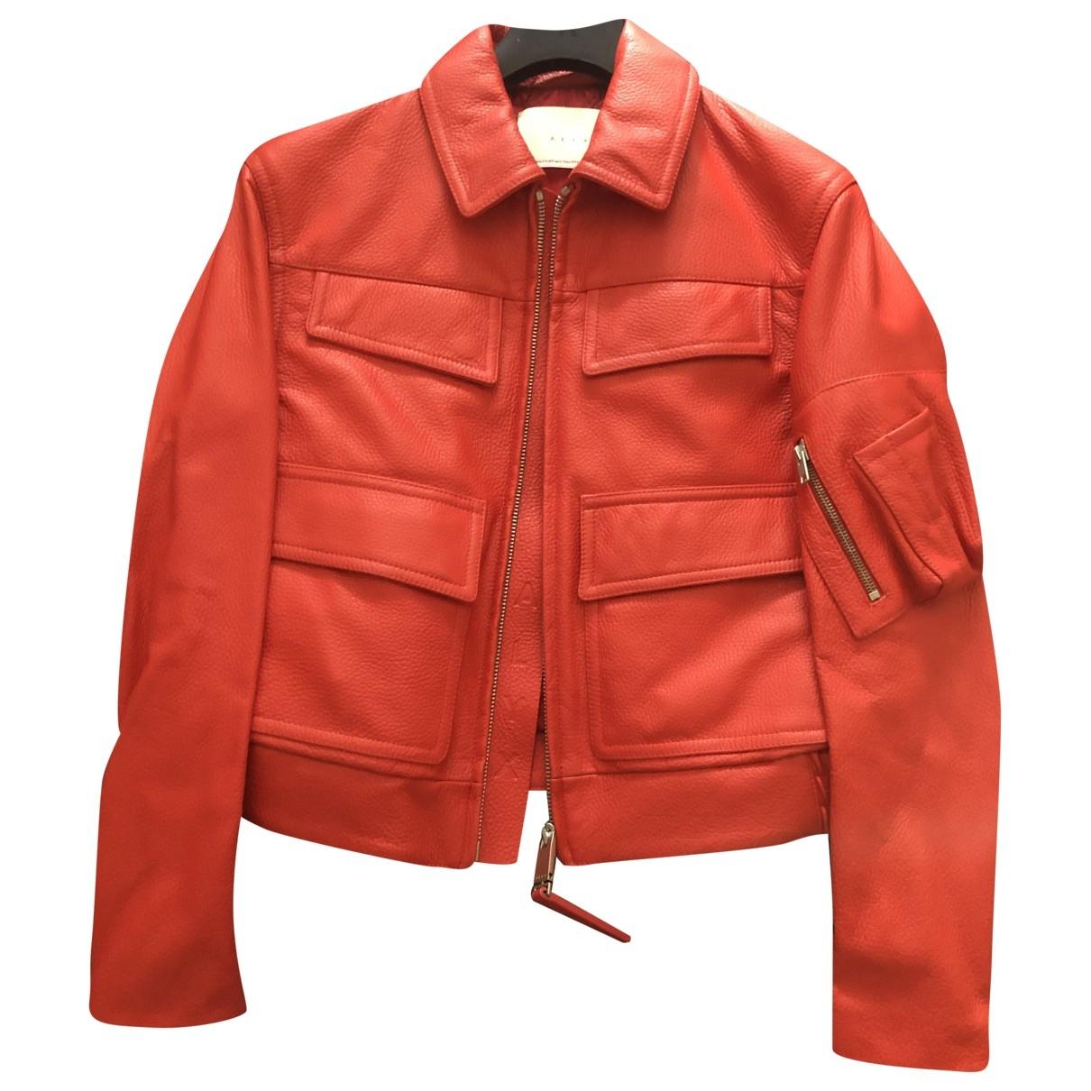 Alyx - Blouson   pour femme en cuir - rouge