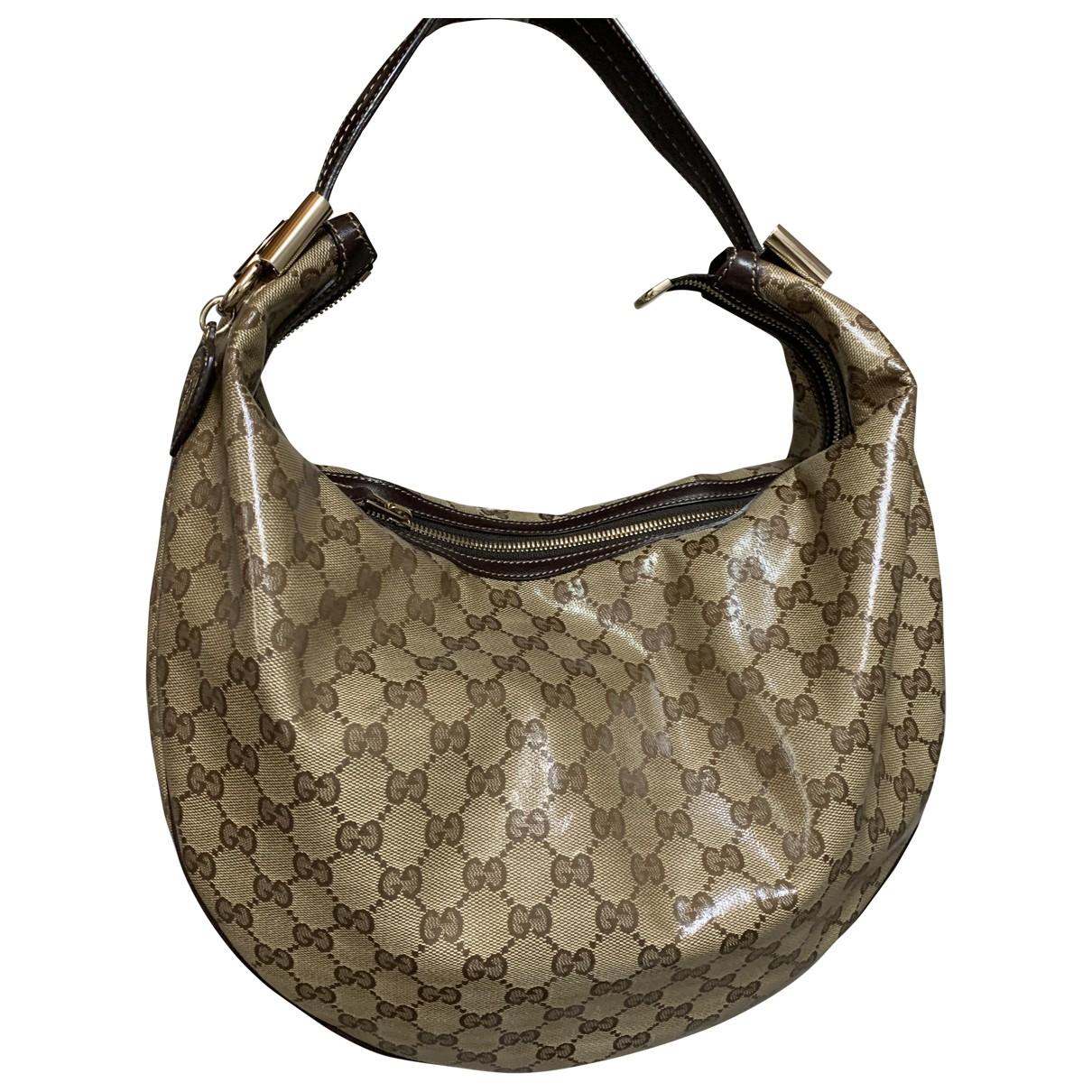 Bolso  Hobo de Lona Gucci