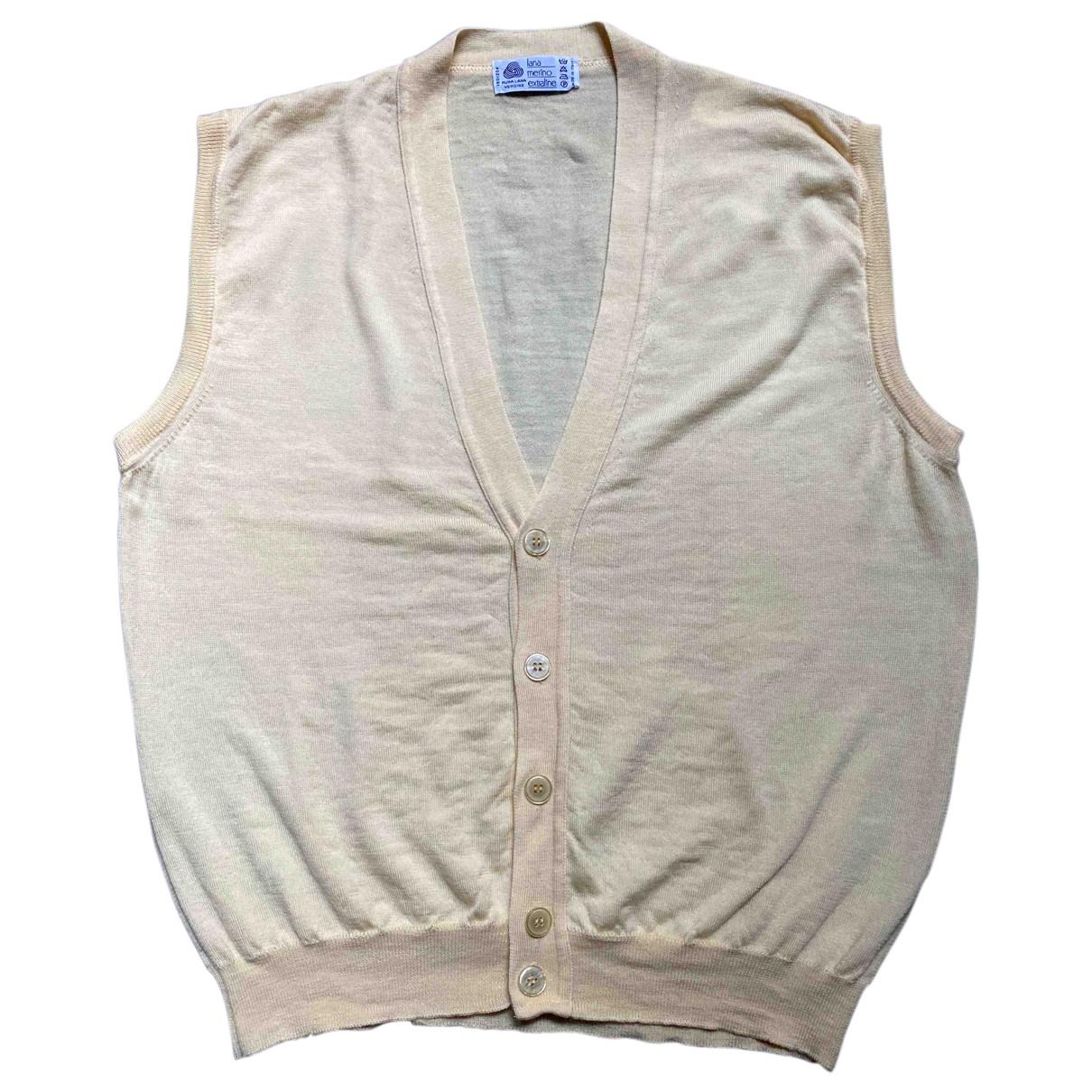 Non Signe / Unsigned \N Pullover.Westen.Sweatshirts  in  Gelb Wolle