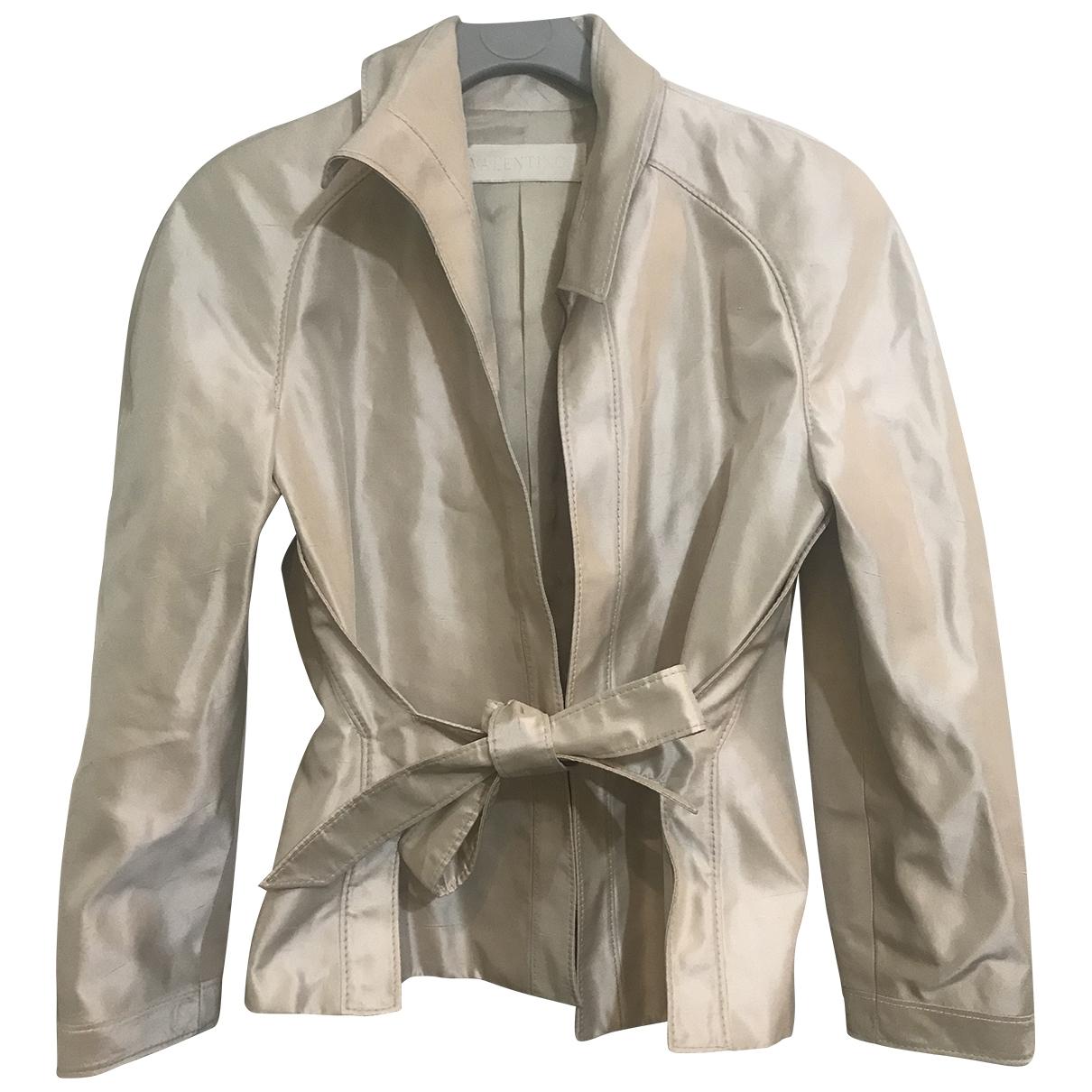 Valentino Garavani \N Beige Silk jacket for Women 36 FR