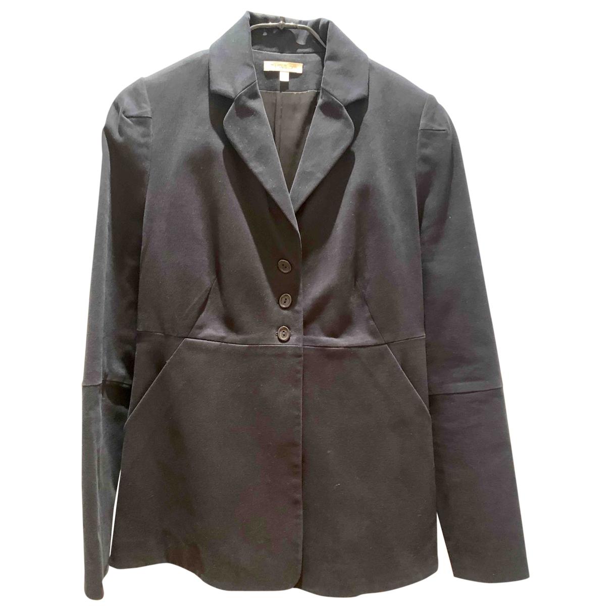 Paule Ka - Veste   pour femme en coton - noir