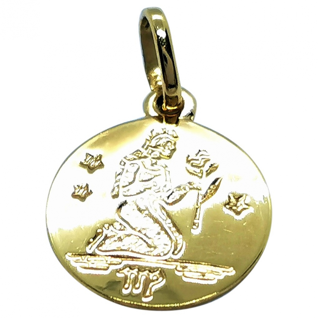 Non Signe / Unsigned \N Anhaenger in  Gold Gelbgold