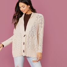 Toggle Closure Knitted Cardigan