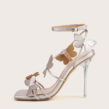 Butterfly Decor Ankle Strap Sandals