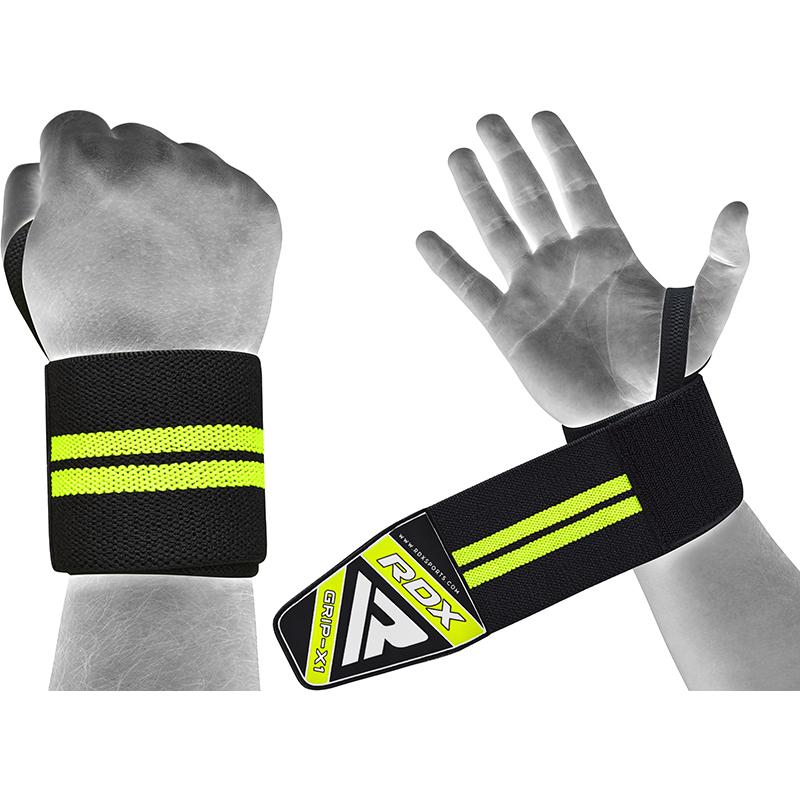 RDX W3 19 Inch Protege Poignet de Musculation  Vert noir Coton
