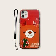 Christmas Bear Print iPhone Case