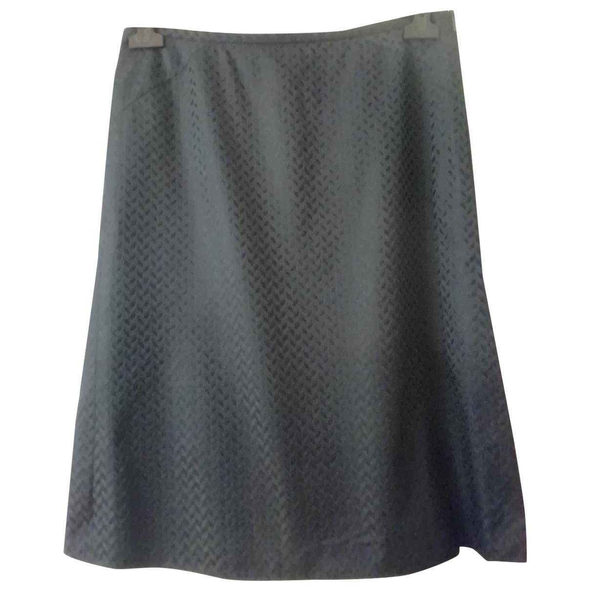 Falda midi de Seda Armani Collezioni