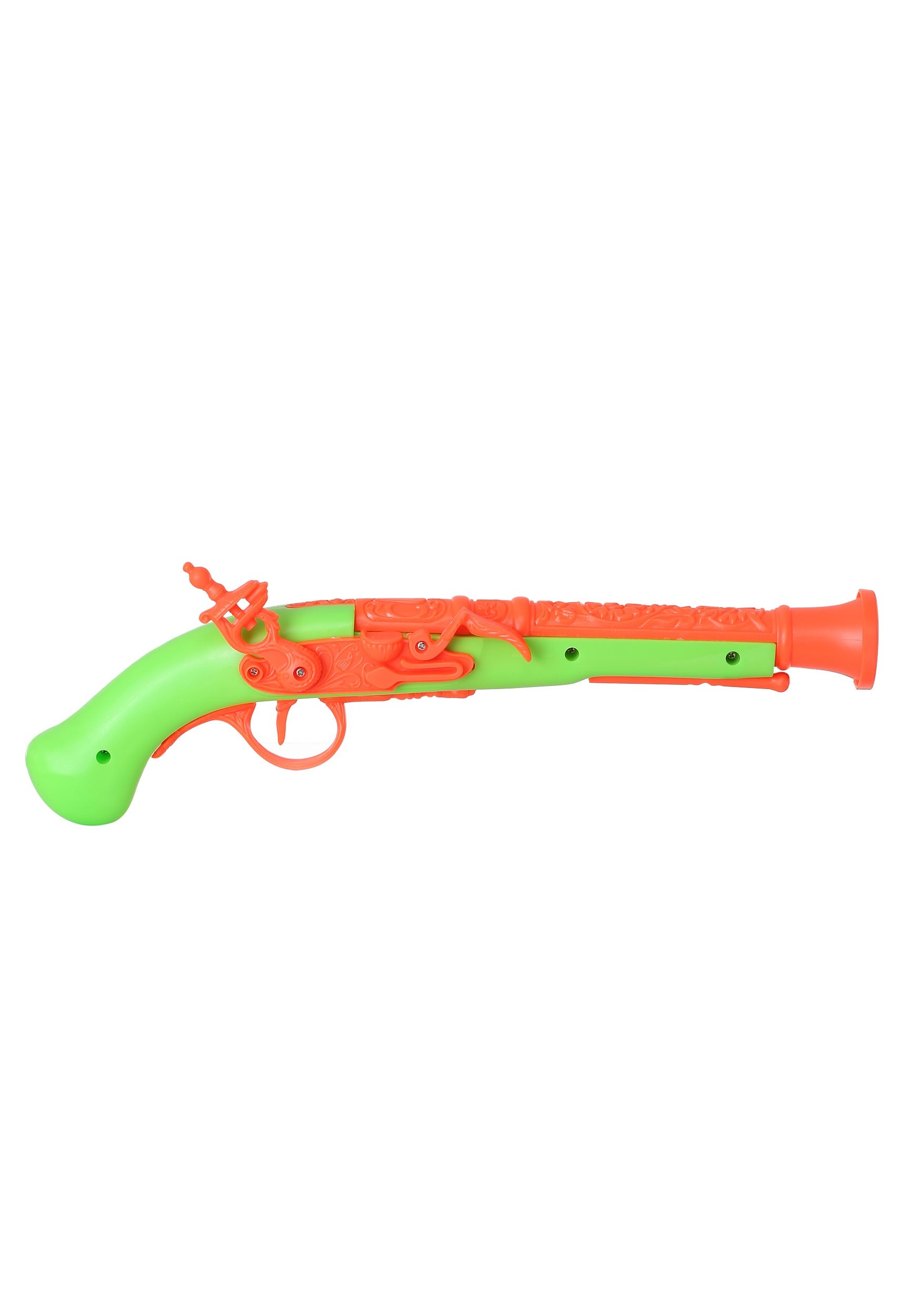 Orange/Green Flintlock Pirate Pistol
