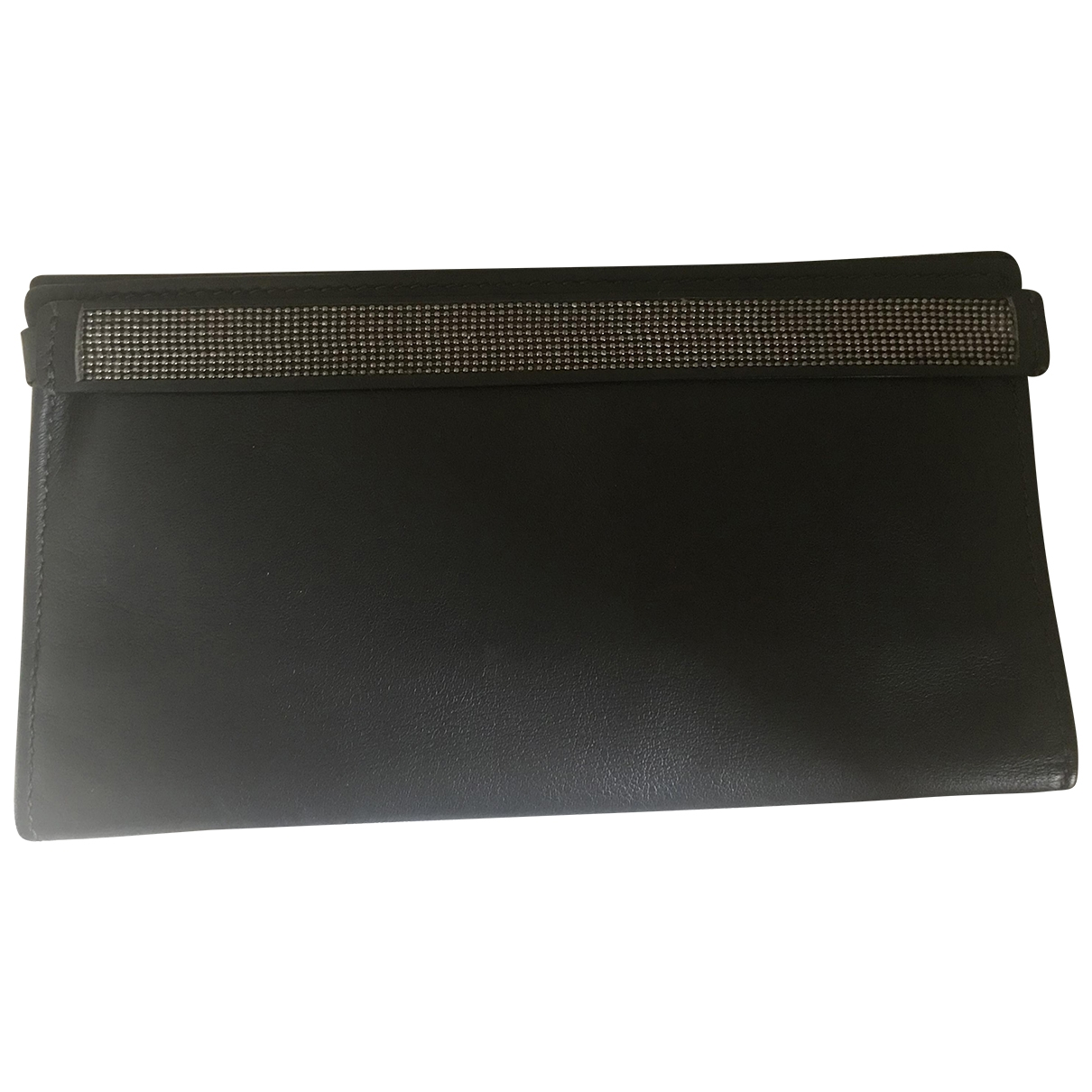 Brunello Cucinelli \N Anthracite Leather wallet for Women \N