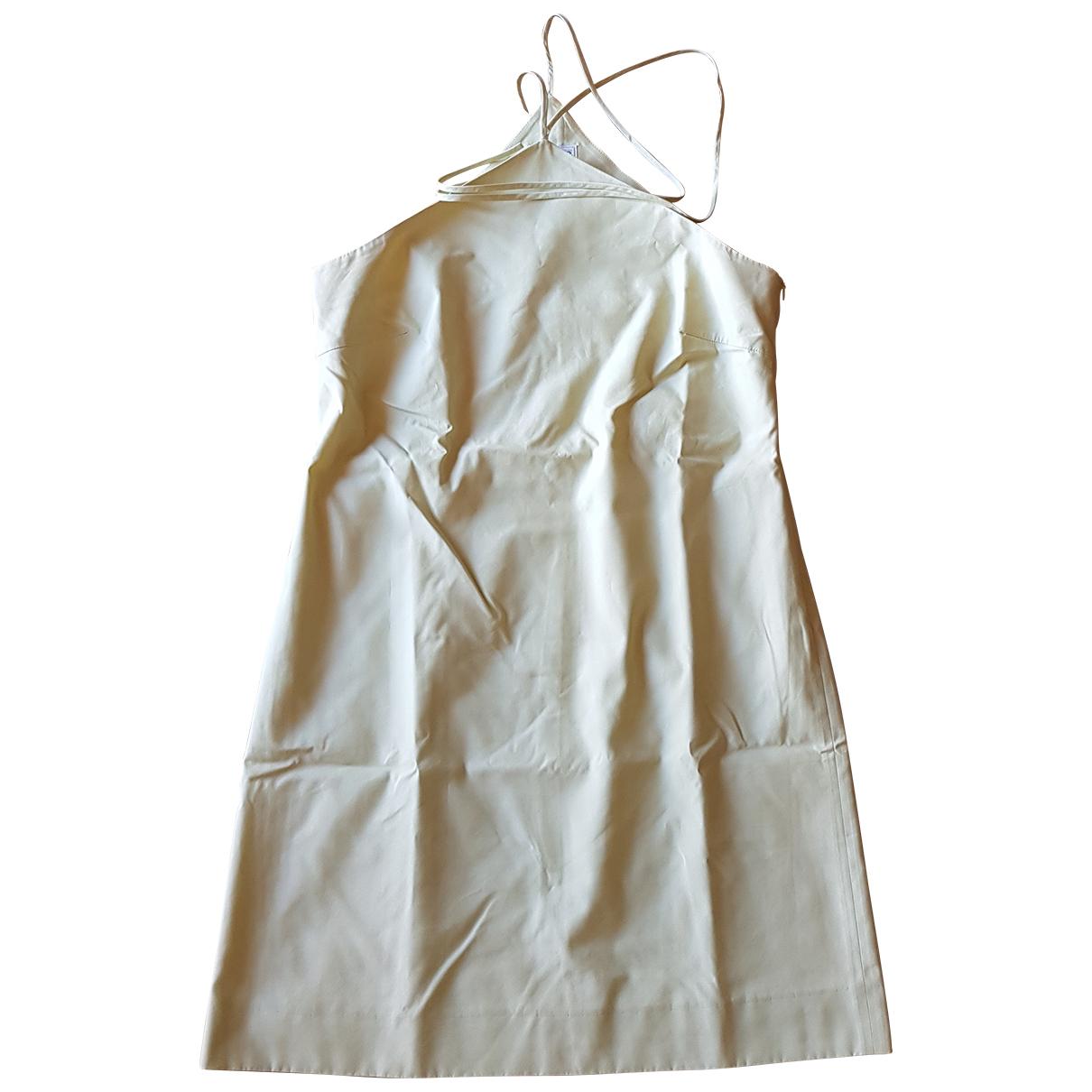 Gianfranco Ferre \N Kleid in  Gelb Baumwolle