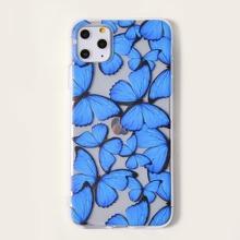 1 pieza funda de iphone con mariposa