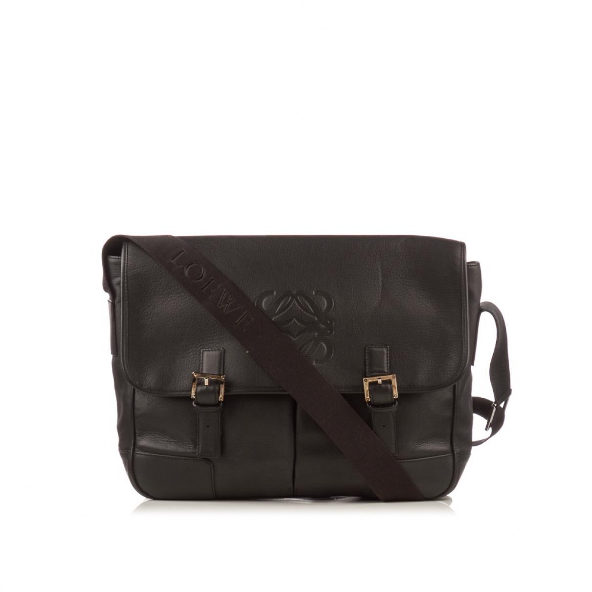 Loewe \N Black Leather bag for Men \N