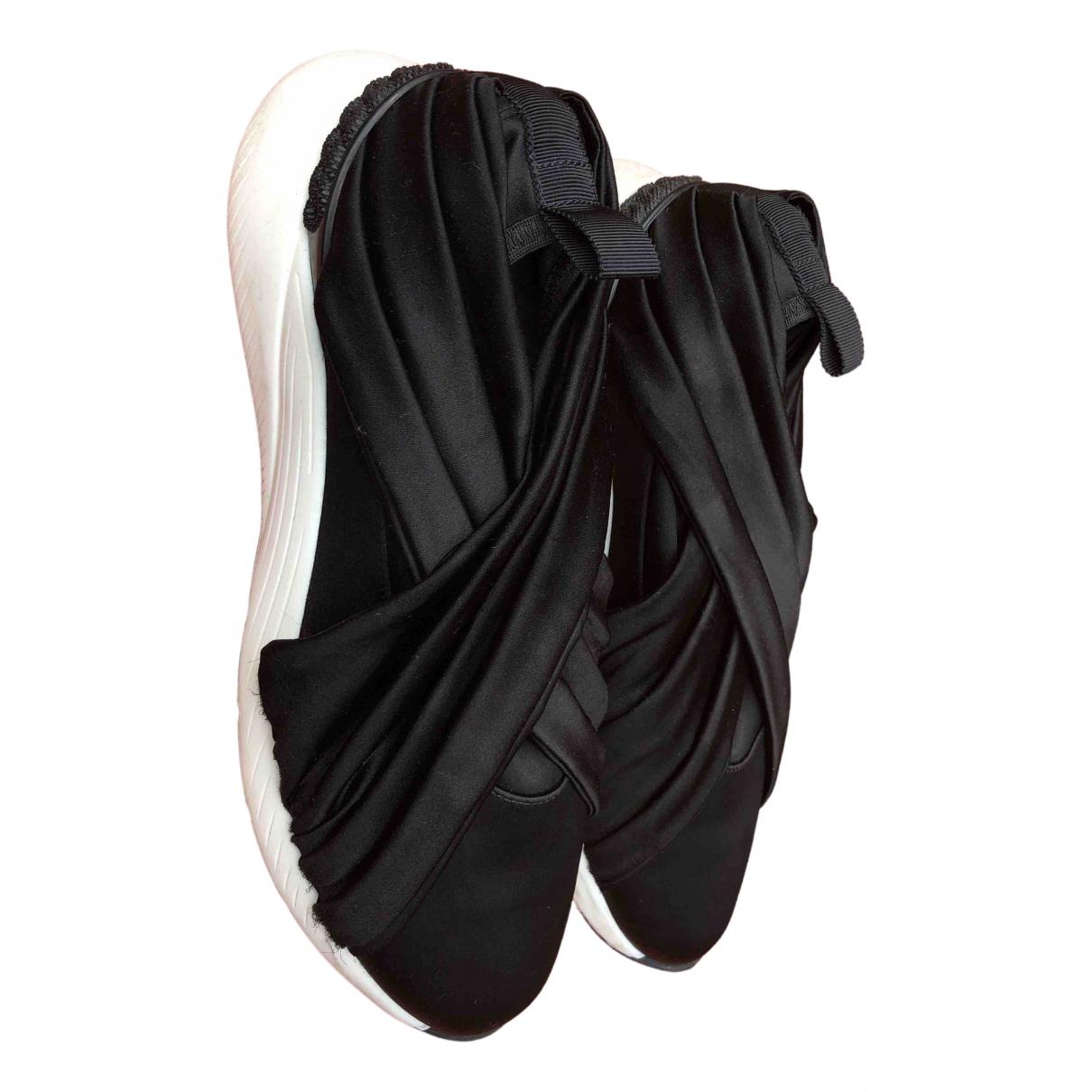 Casadei \N Sneakers in  Schwarz Leinen