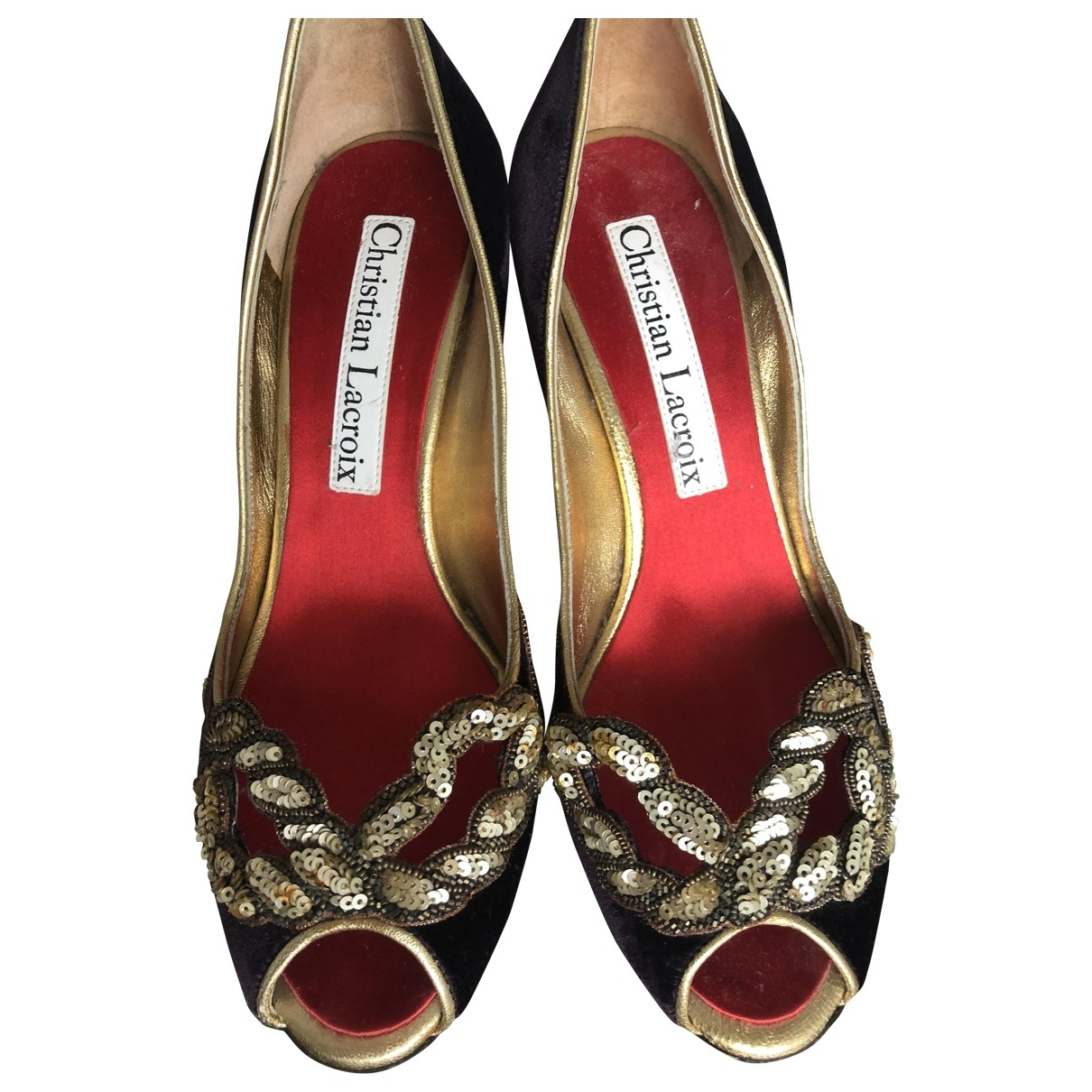 Christian Lacroix \N Pumps in  Lila Samt