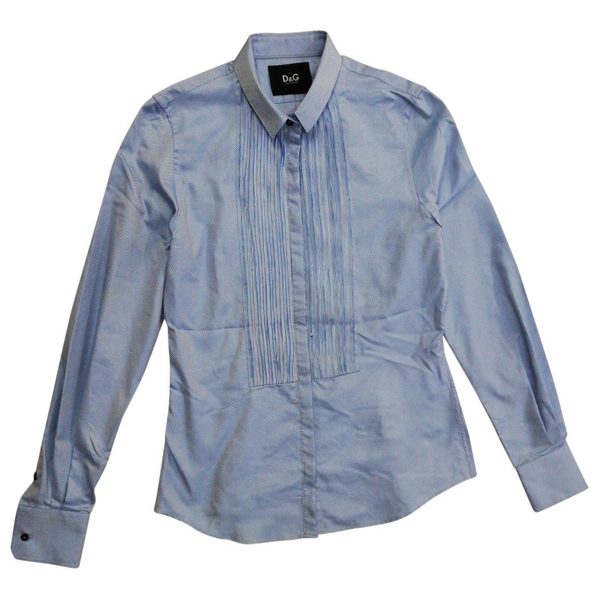 D&g \N Blue Silk  top for Women 42 IT