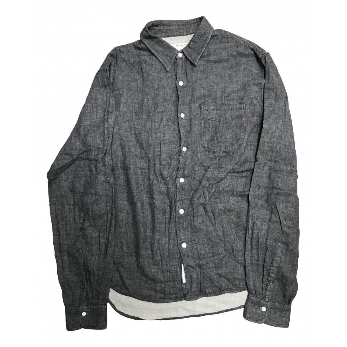 Rag & Bone N Blue Cotton Shirts for Men M International