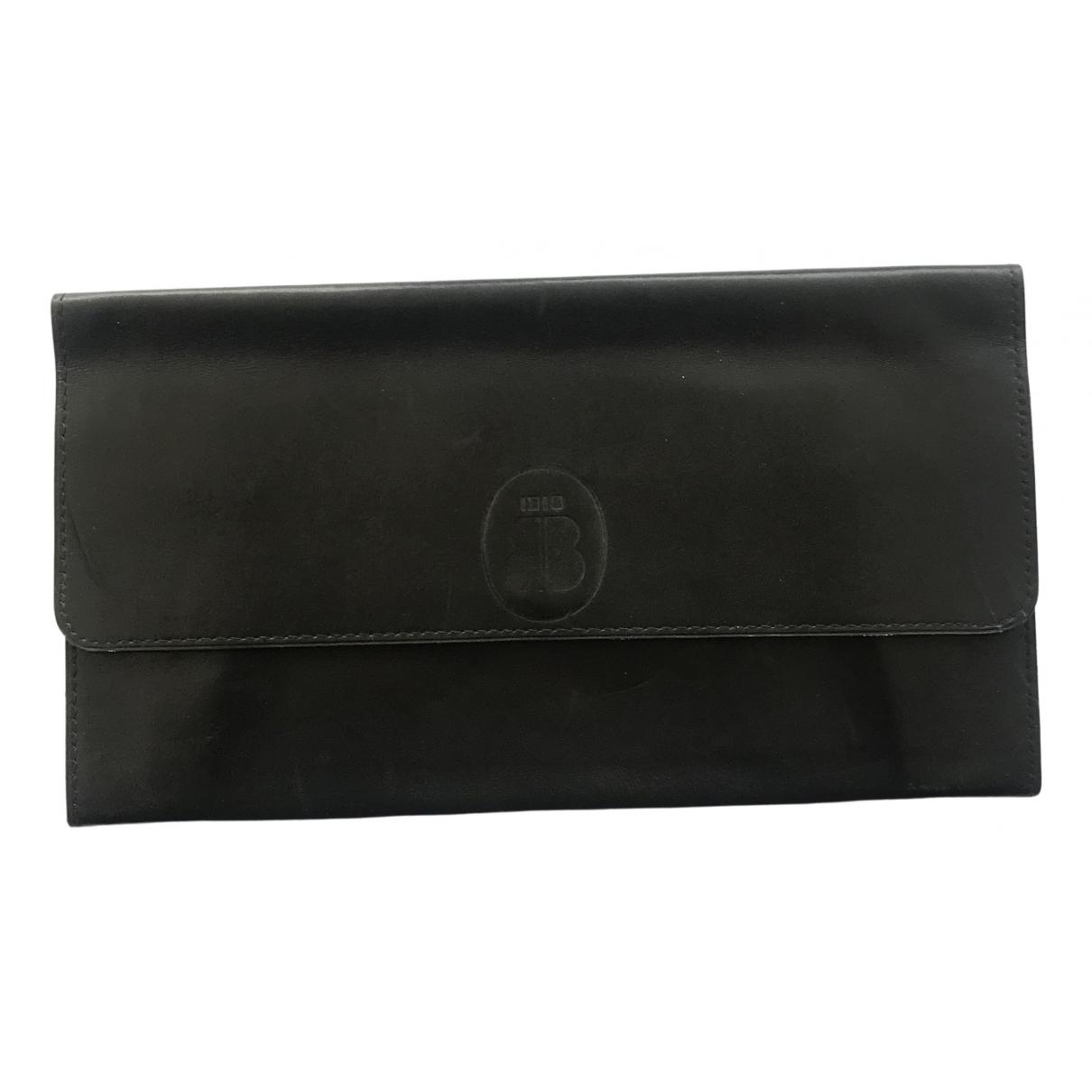 Non Signe / Unsigned \N Portemonnaie in  Schwarz Leder