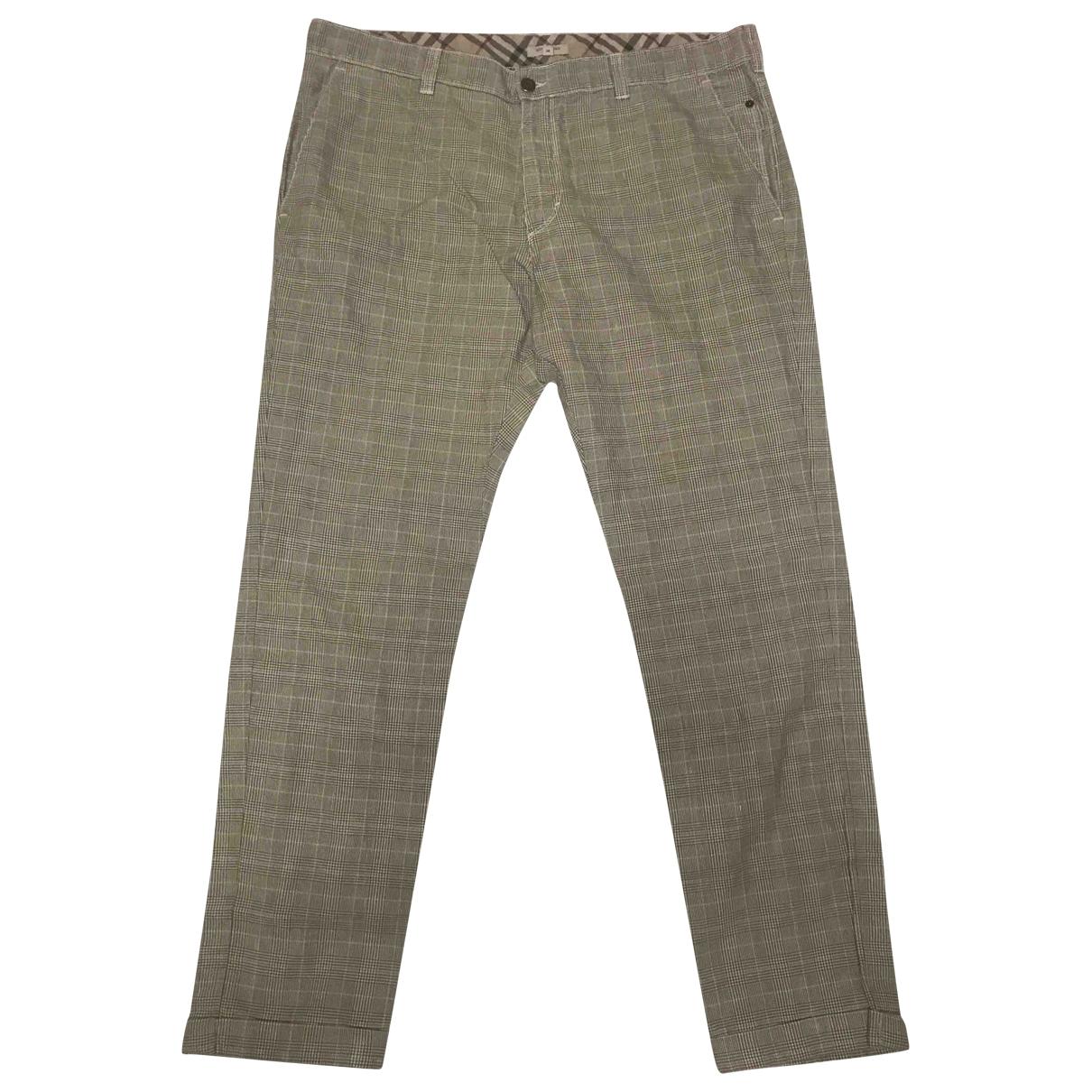 Burberry \N Beige Cotton Trousers for Men 56 IT