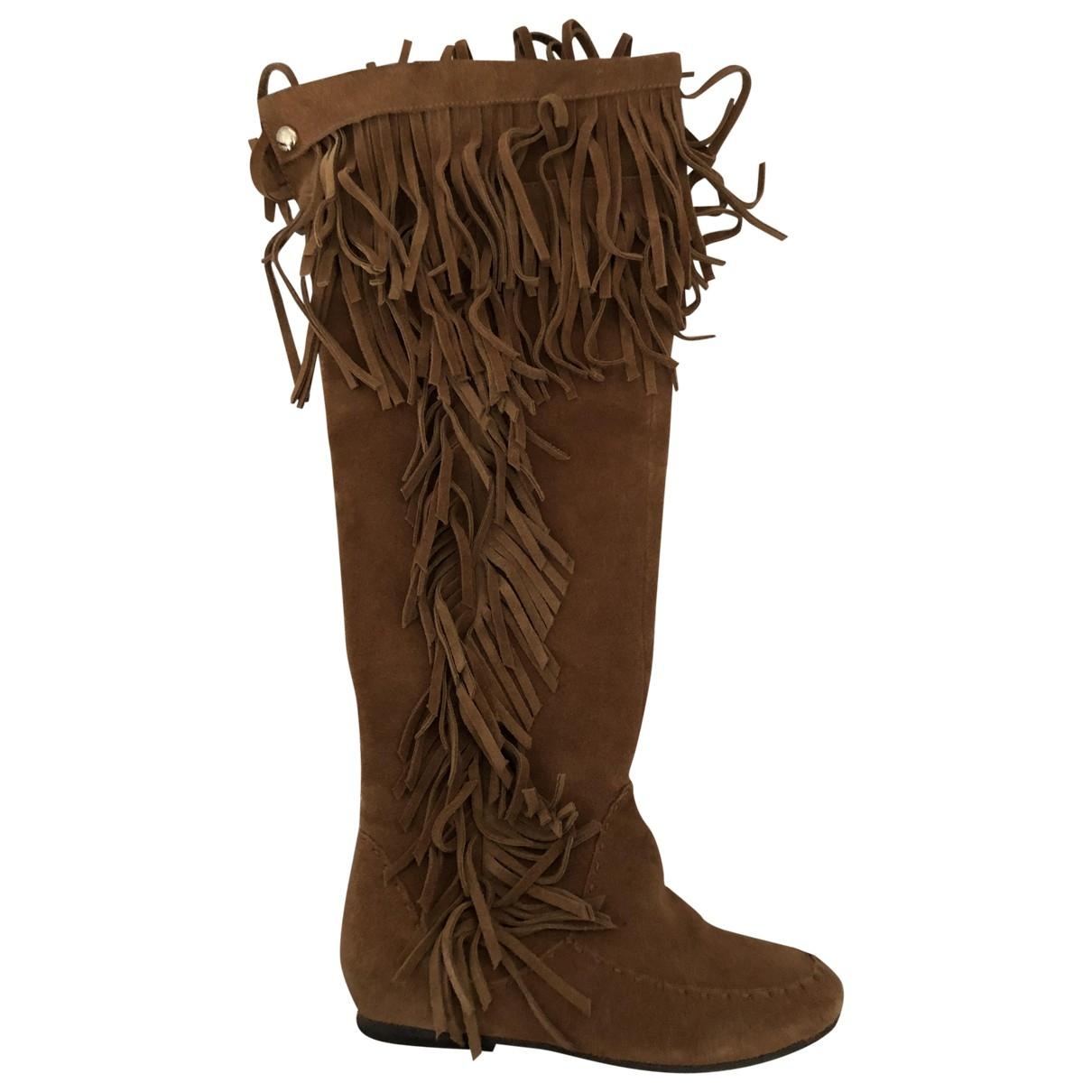 Patrizia Pepe - Bottes   pour femme en cuir - camel