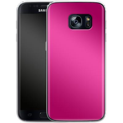 Samsung Galaxy S7 Silikon Handyhuelle - Test Magenta von caseable Designs