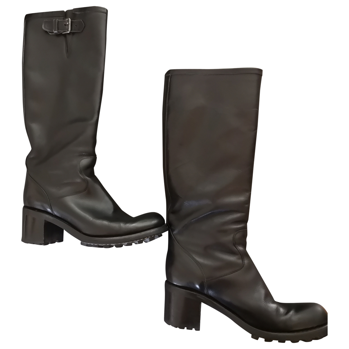 Free Lance N Black Leather Boots for Women 38.5 EU