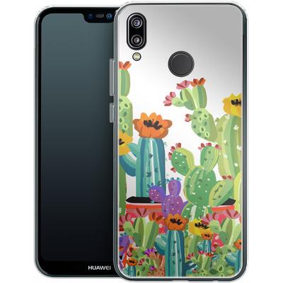 Huawei P20 Lite Silikon Handyhuelle - Cacti Land von Mukta Lata Barua