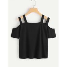 Camiseta con aberturas en los hombros