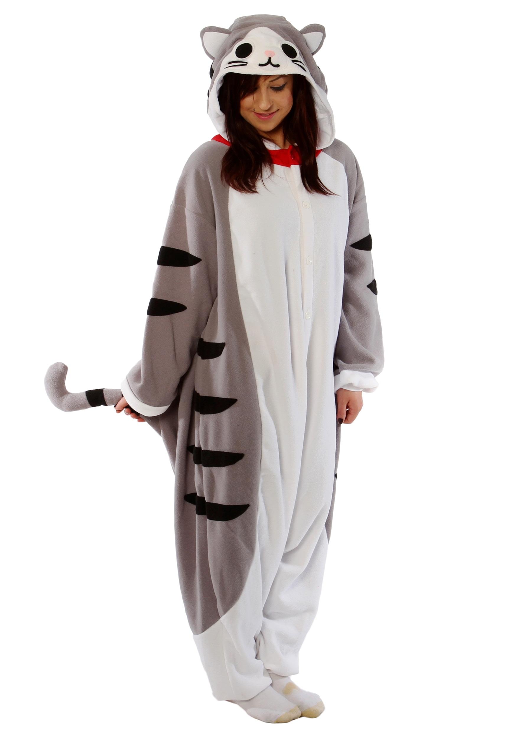 Adult Tabby Cat Onesie Pajamas