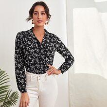 Camisa bajo irregular floral