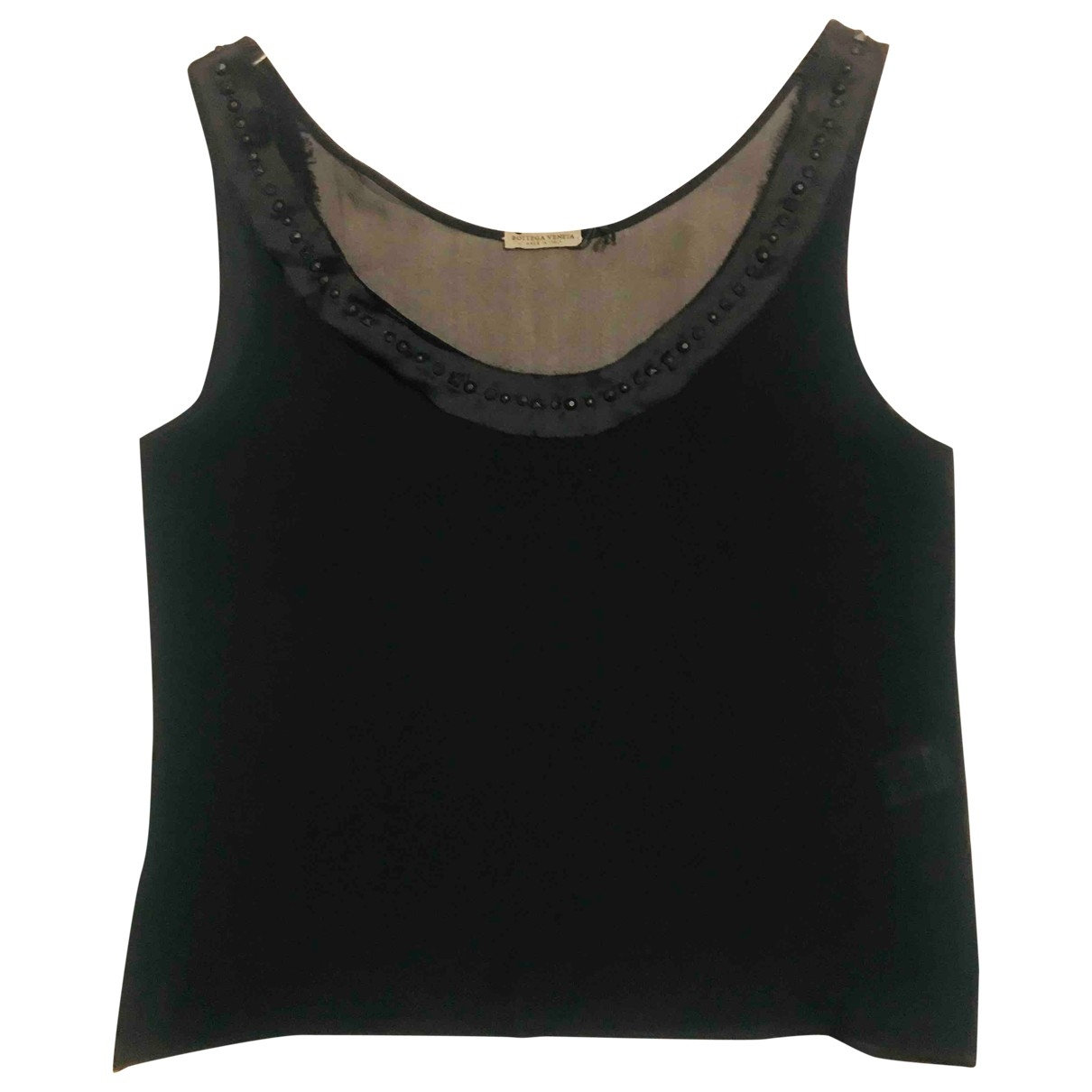 Bottega Veneta \N Black Silk  top for Women 40 IT