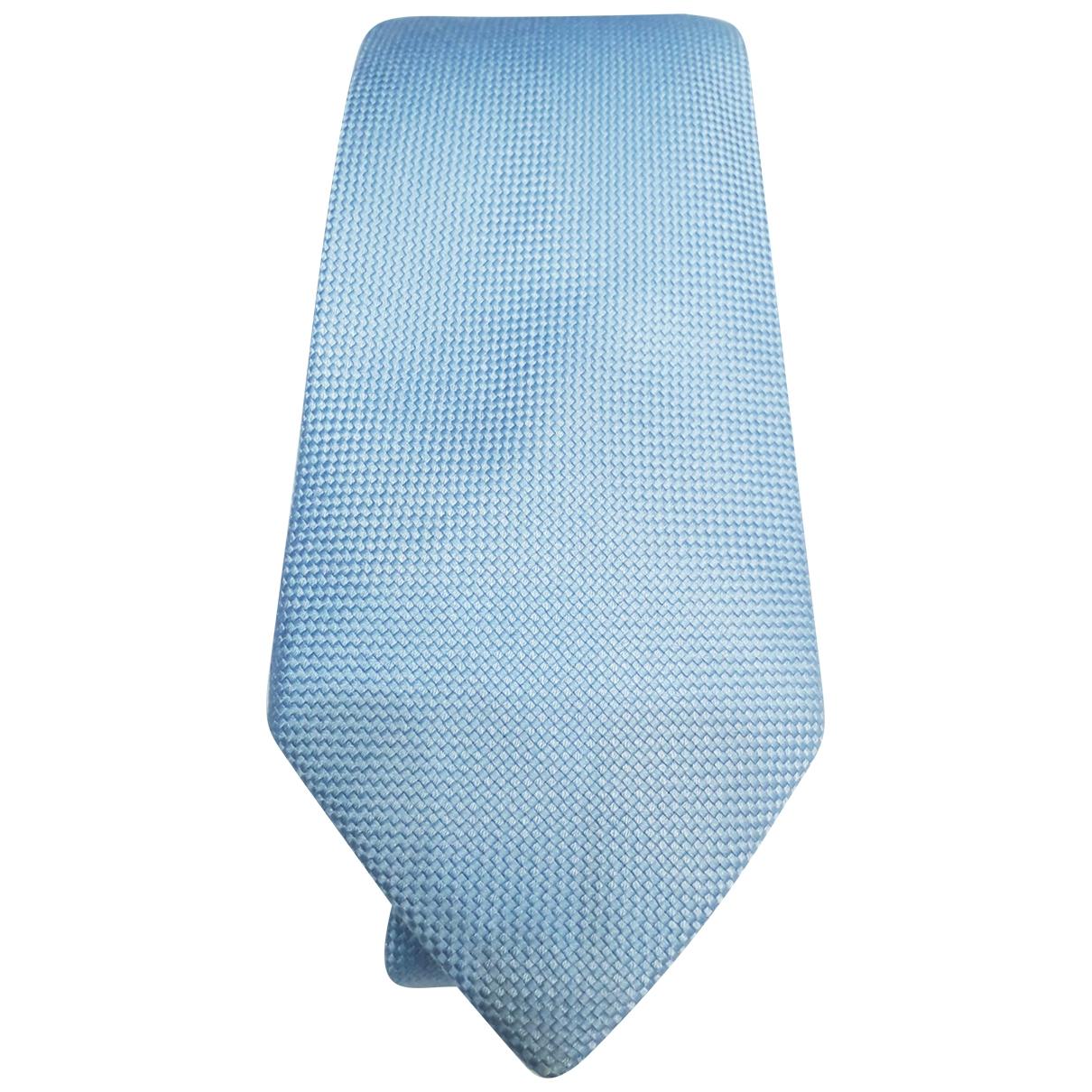 Hermès \N Blue Silk Ties for Men \N