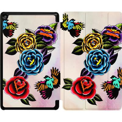 Amazon Fire HD 8 (2017) Tablet Smart Case - Tattoo Roses von Mark Ashkenazi