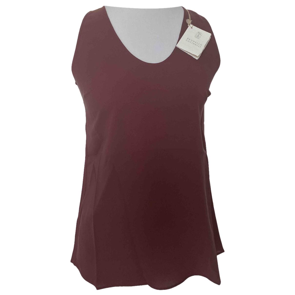 Brunello Cucinelli \N Brown Silk  top for Women S International