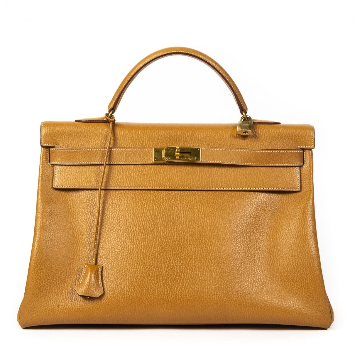 Hermes Kelly 40 Handtasche in  Kamel Leder