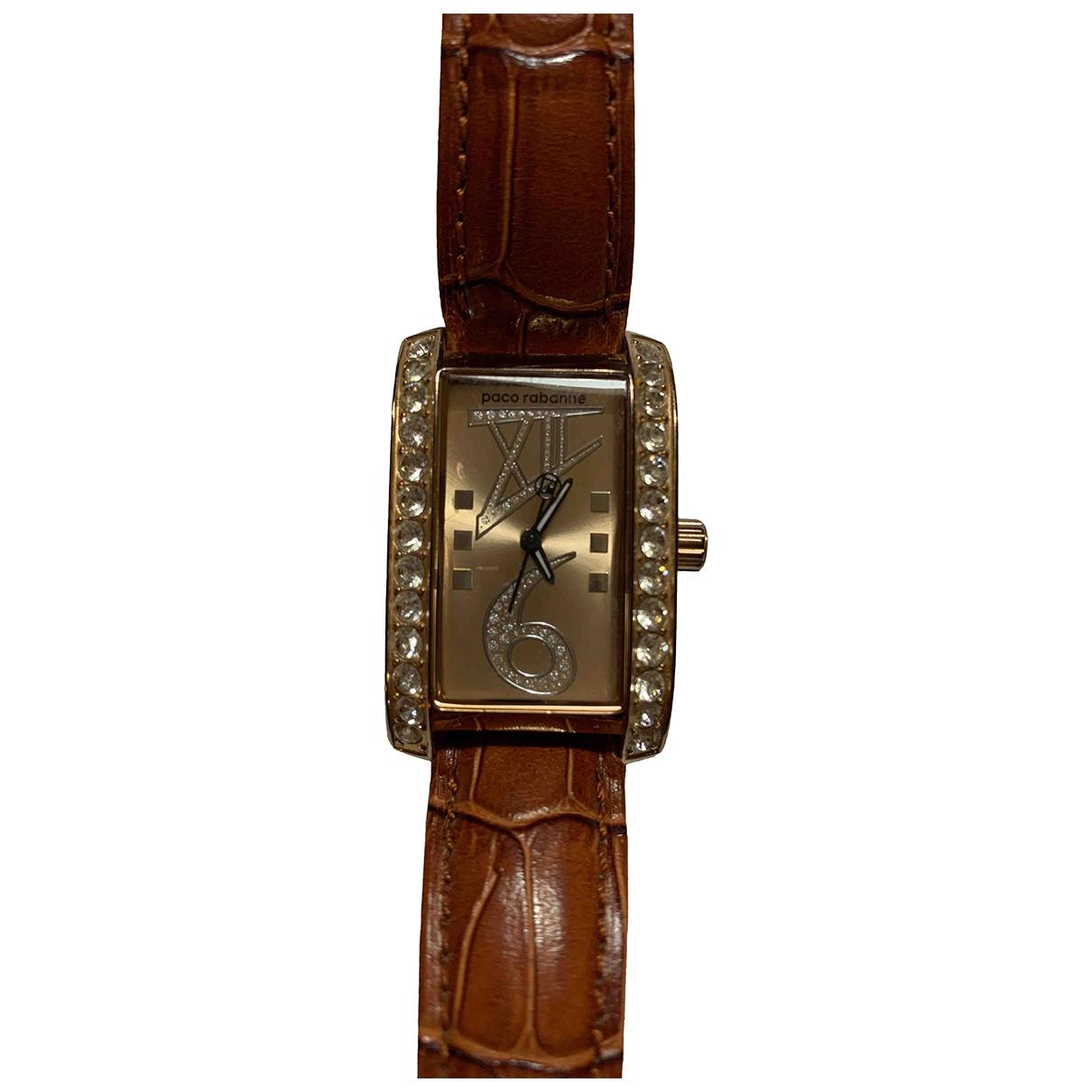 Paco Rabanne \N Brown Steel watch for Women \N