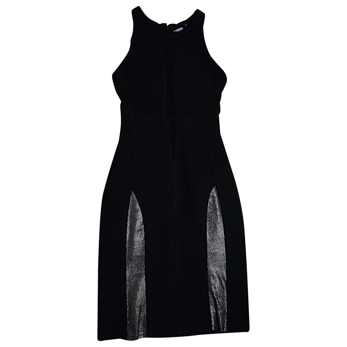 Herve Leger \N Kleid in  Schwarz Seide