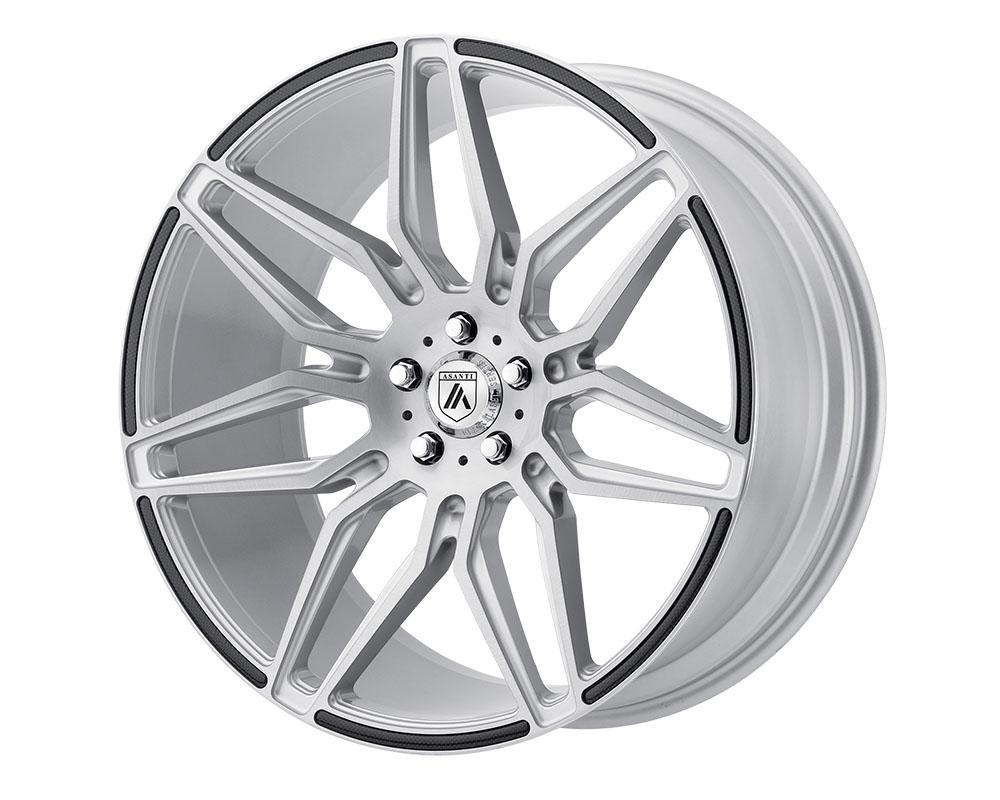Asanti ABL11-22051235SL Black ABL-11 Sirius Wheel 22x10.5 5x5x114.3 +35mm Brushed Silver Carbon Fiber Insert