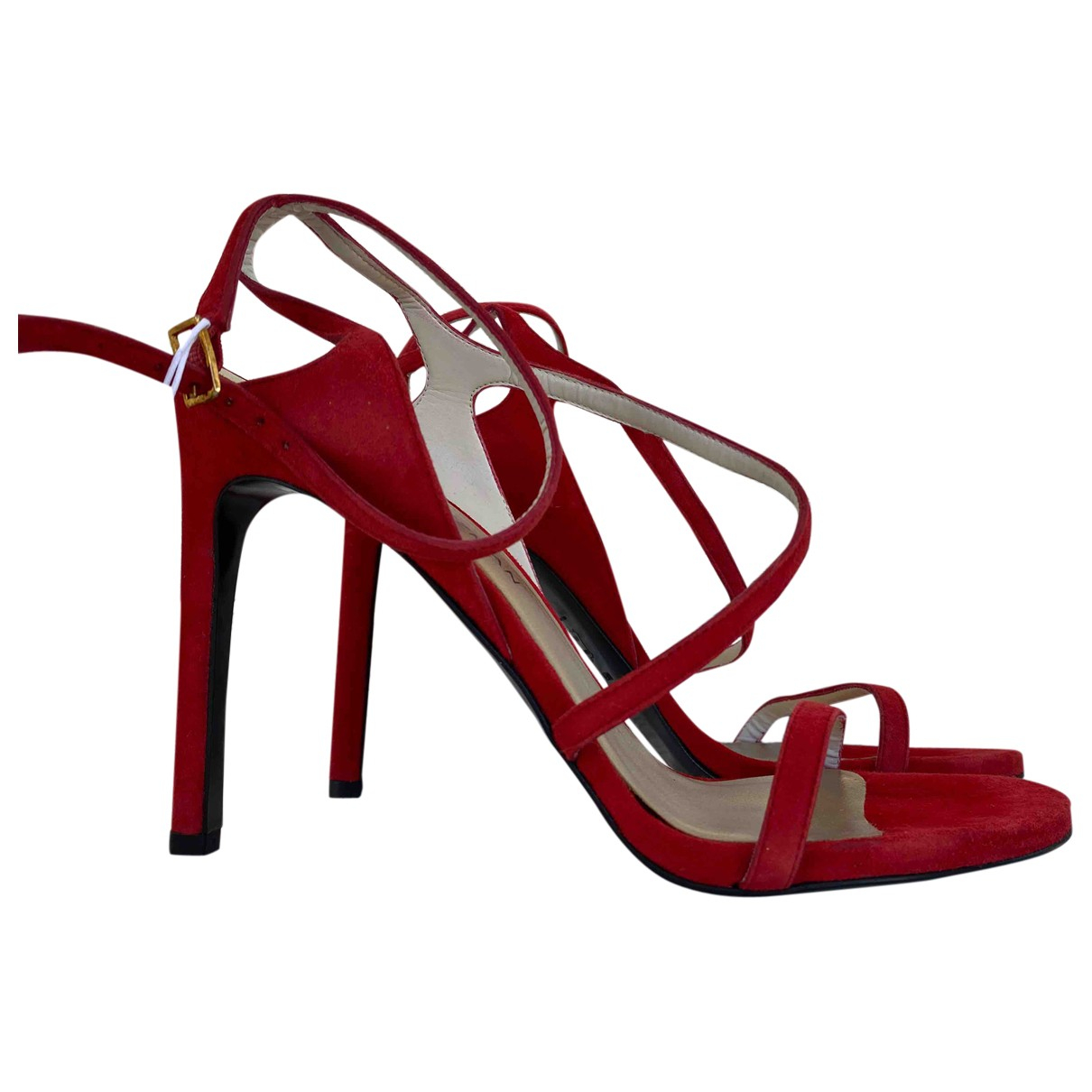 Stuart Weitzman \N Red Suede Sandals for Women 40 EU