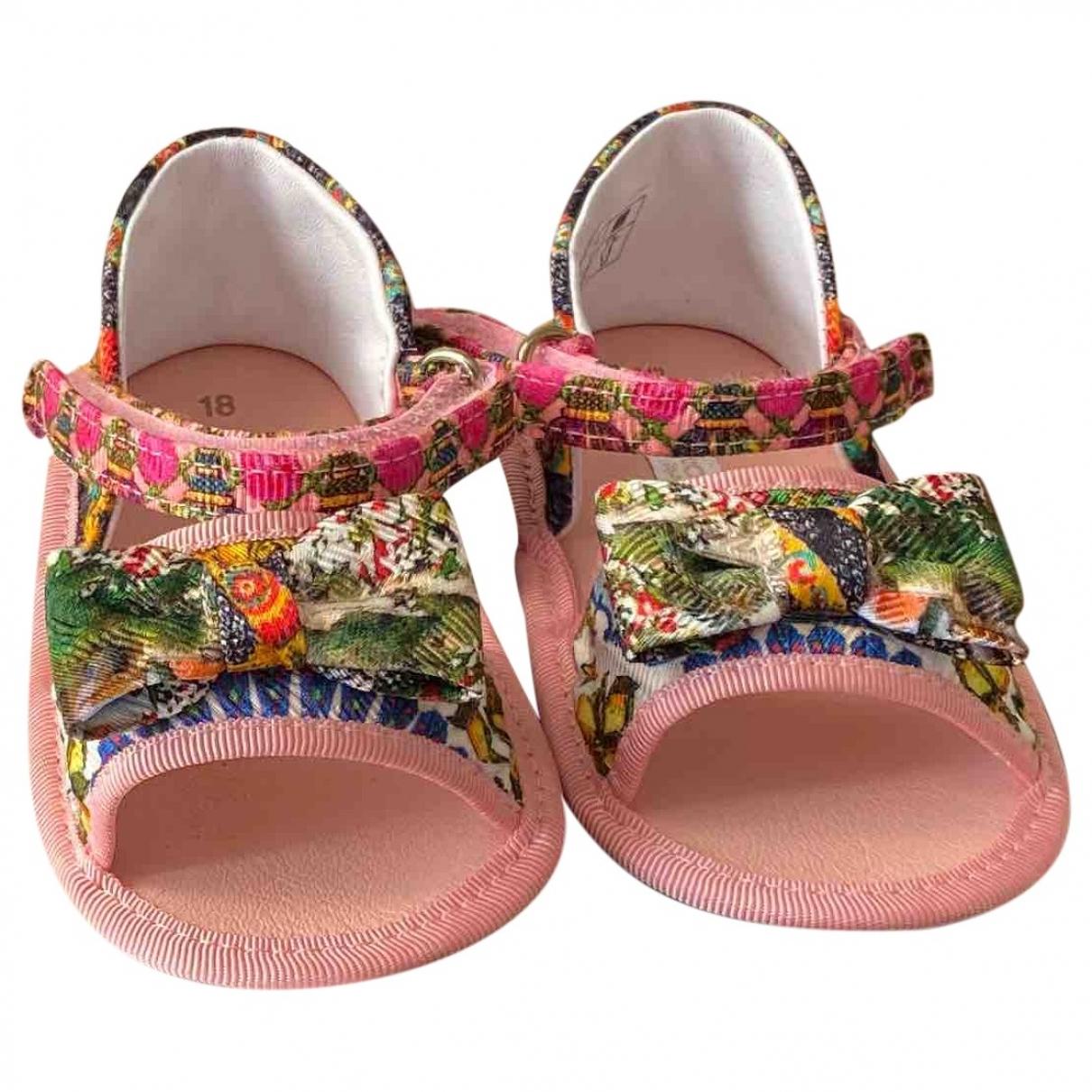 Dolce & Gabbana \N Sandalen in  Rosa Polyester