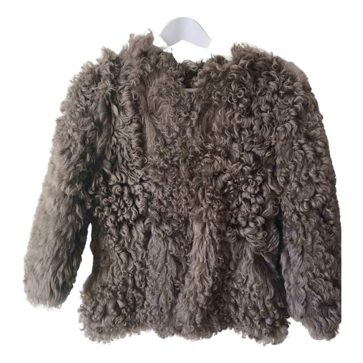 Bonpoint - Blousons.Manteaux   pour enfant en mouton - marron