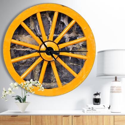 CLM041-C23 Yellow Wooden Wagon Wheel
