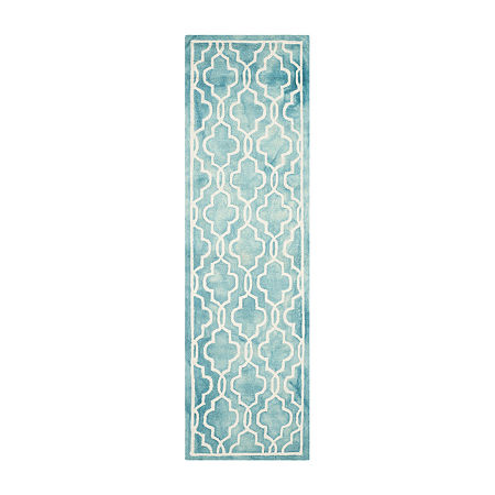 Safavieh Dip Dye Collection Jalen Geometric Runner Rug, One Size , Multiple Colors