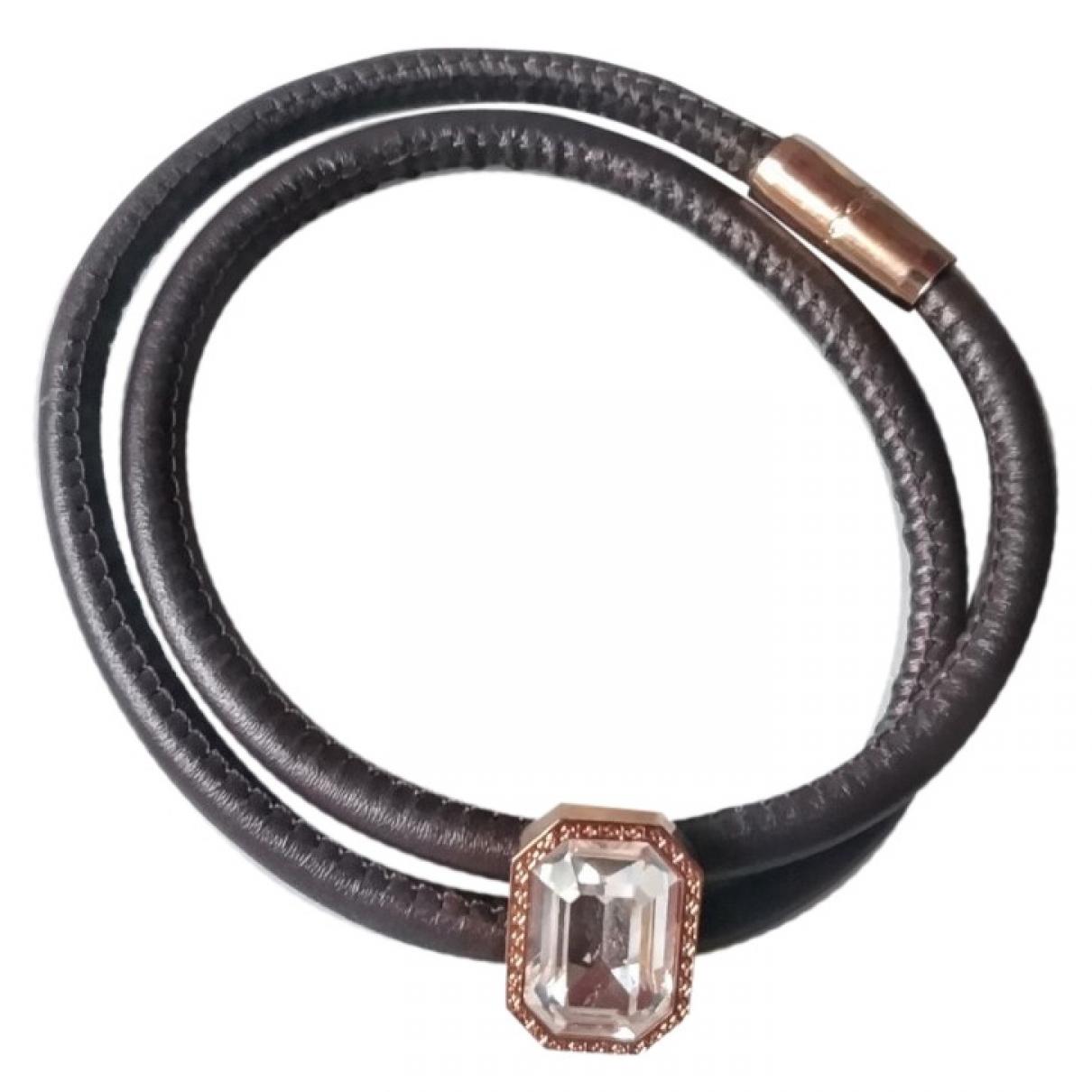 Rebecca \N Armband in  Braun Leder