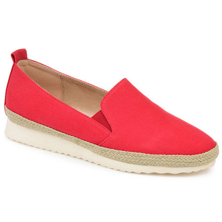 Journee Collection Womens Leela Slip-On Shoe Round Toe, 12 Medium, Red