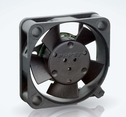 ebm-papst , 5 V dc, DC Axial Fan, 25 x 25 x 8mm, 3.5m³/h, 400mW, IP20