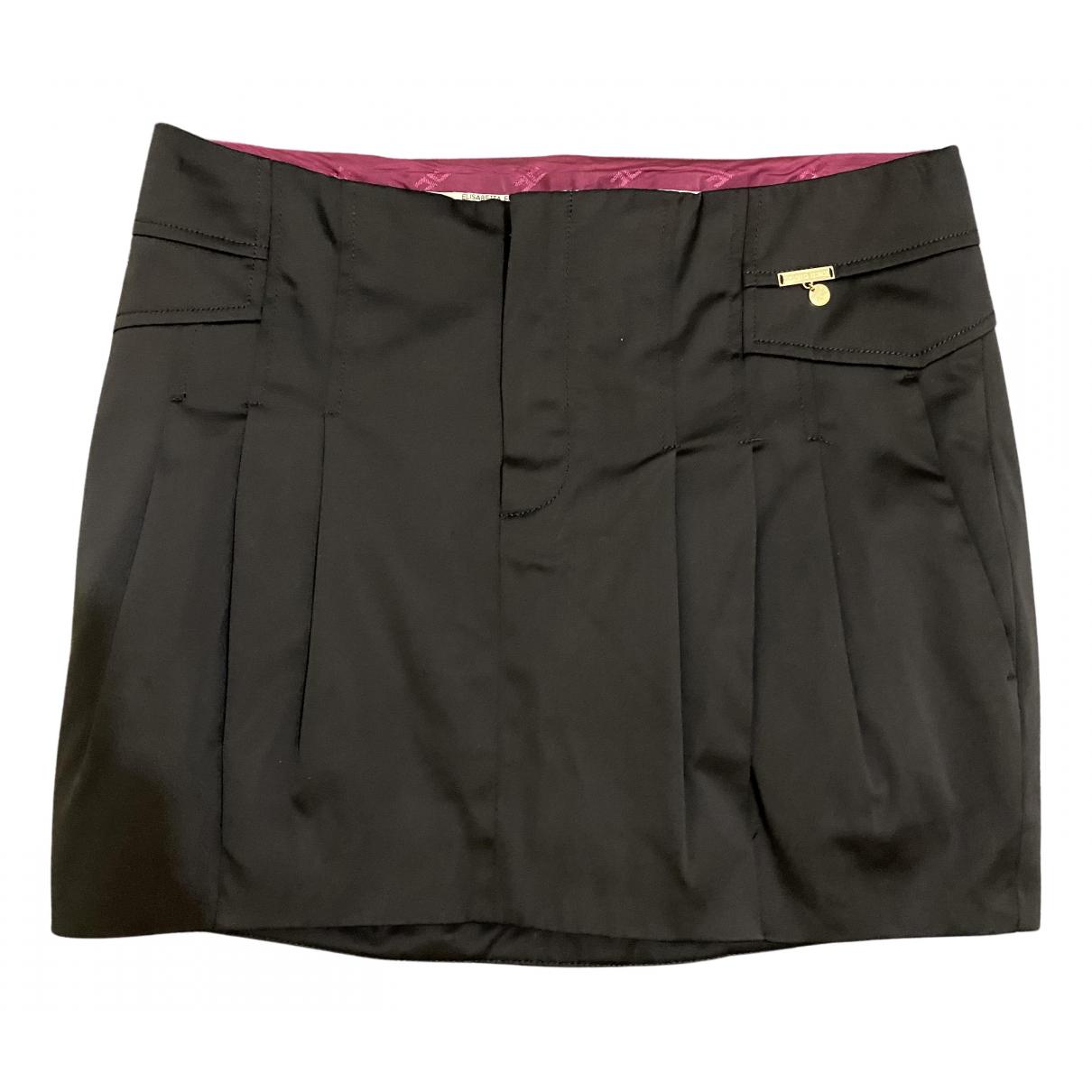 Elisabetta Franchi - Jupe   pour femme en coton - noir